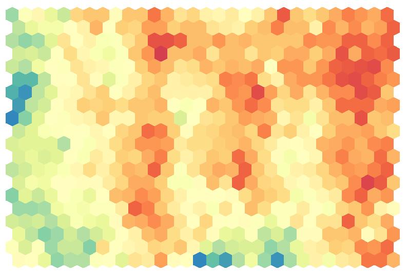 How to create a hexagonal heatmap in R | Visual Cinnamon